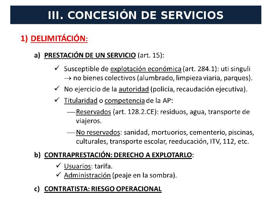A concesión de servizos e o contrato de servizos aos cidadáns